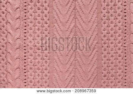 close up of a knitted fabric texture