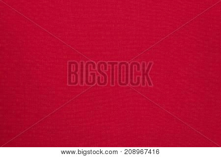 close up of a red fabric texture