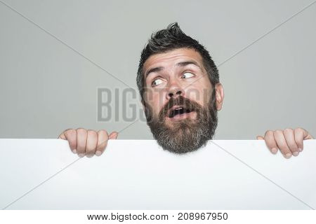 Man With Long Beard And Mustache.