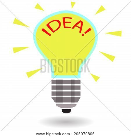 Light bulb idea concept template isolated on white background