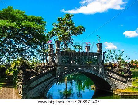 Ujung, Bali, Indonesia - April 15, 2012: Water Palace Taman Ujung in Bali Island Indonesia