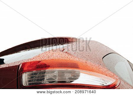 Back Light Red Car Detail