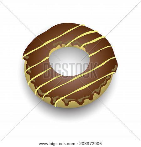 sweet donut icon isolated on white background
