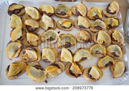 Boudin With Apple Toast Canapes In Party Events