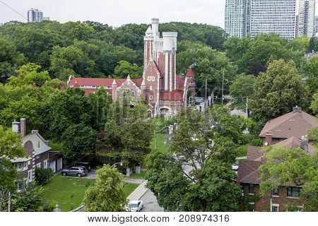 The Casa Loma stables in Toronto Canada