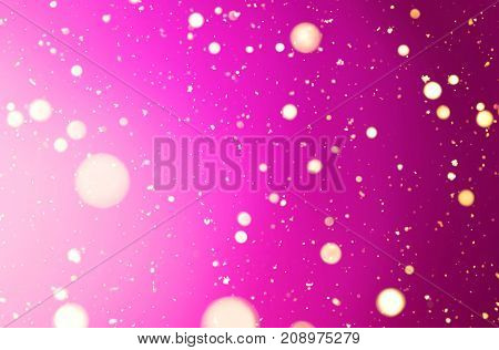 abstract holiday pink background. shine backdrop with soft focus and a blur. decorative empty design element. festive party pink background with circles