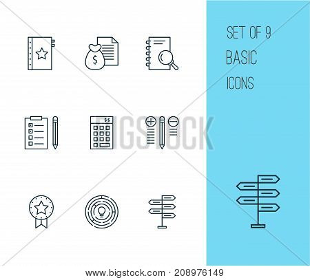 Management Icons Set. Collection Of Innovation, Decision Making, Report And Other Elements