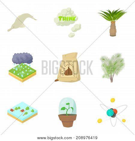 Ology icons set. Cartoon set of 9 ology vector icons for web isolated on white background