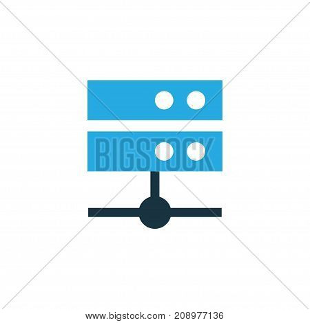 Premium Quality Isolated Datacenter Element In Trendy Style.  Media Server Colorful Icon Symbol.