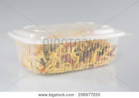 Chinese Take Out Food In Boxes Close Up