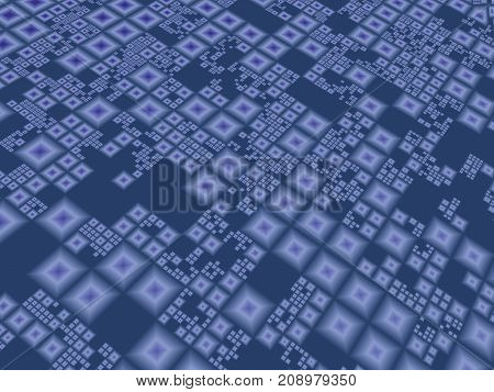 Abstract blue contemporary techno board perspective background