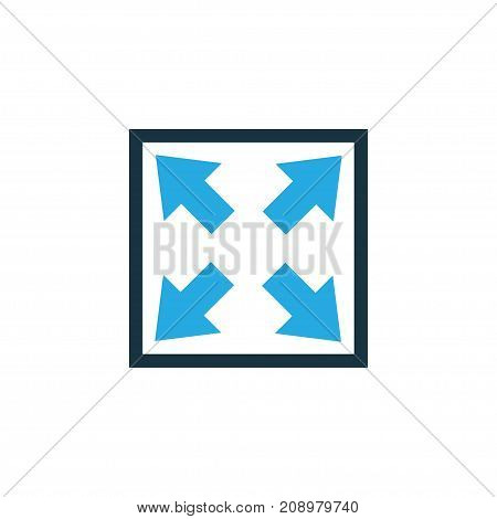 Premium Quality Isolated Enlarge Element In Trendy Style.  Widen Colorful Icon Symbol.