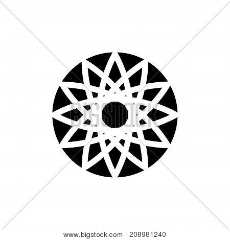 Icon, logo in the form of a circular abstract pattern. Vector graphics.