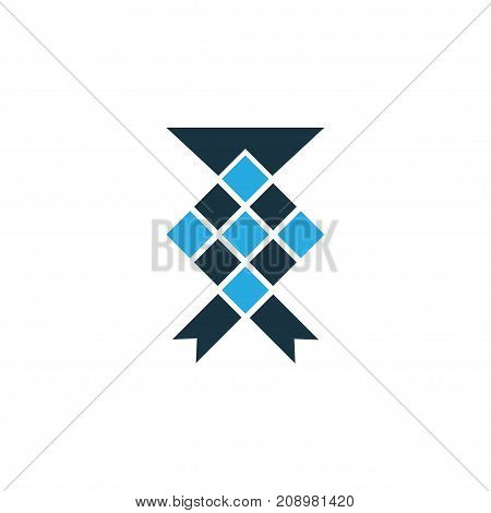 Premium Quality Isolated Malay Element In Trendy Style.  Ketupat Colorful Icon Symbol.