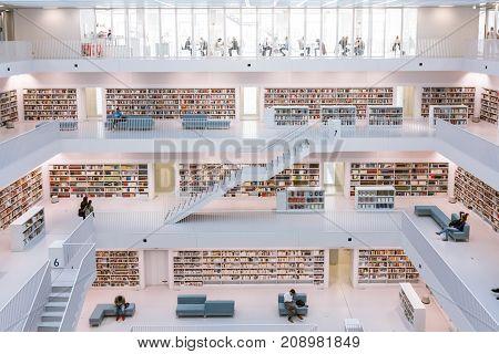 Stuttgart City Library Interior Modern European Architecture Famous October 14 2017