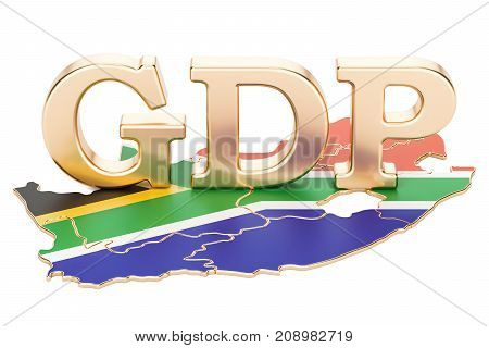 gross domestic product GDP of South Africa concept 3D rendering isolated on white background