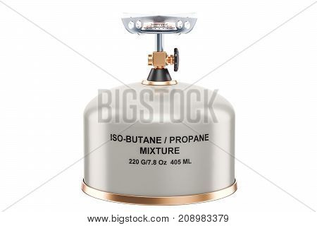 Primus stove closeup 3D rendering isolated on white background