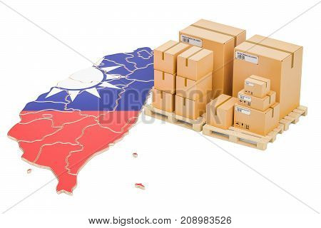 Shipping and Delivery from Taiwan isolated on white background