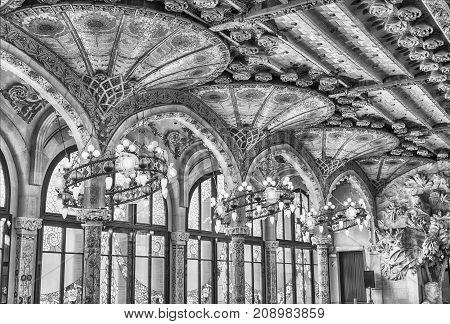 Interior Decorations, Palau De La Musica Catalana, Barcelona, Catalonia, Spain