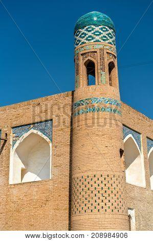 Muhammad Amin Khan Madrassah at Itchan Kala. Khiva, a UNESCO heritage site in Uzbekistan