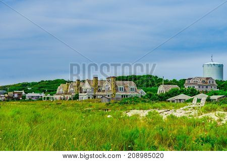 Cottages along the beach in Provincetown Cape Code Massachusetts