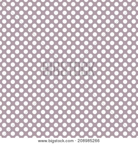 Tile vector pattern with small white polka dots on pastel violet pink background