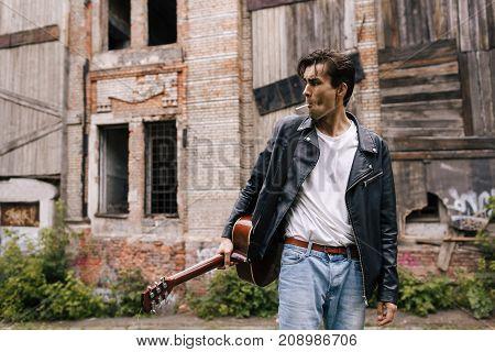 musician guitar player artist performer lifestyle concept