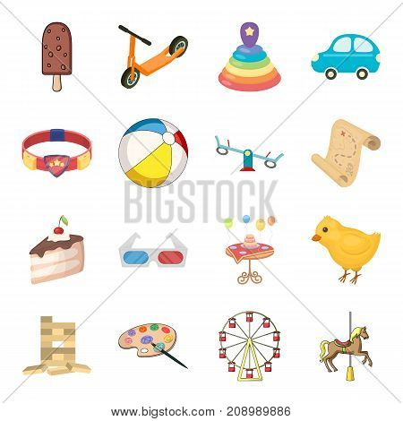 Childhood, entertainment and game, dessert , toy.Baby Entertainment set collection icons in cartoon style vector symbol stock isometric illustration .