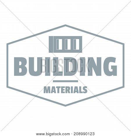 Industrial emblem logo. Gray monochrome illustration of industrial emblem vector logo for web