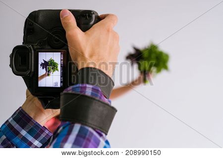 mobile food photography advertisment photo commerce technology concept