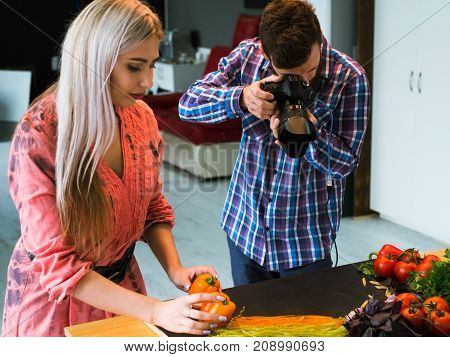 food photography teamwork studio photographer at work concept