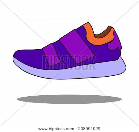 Sneakers icon in flat style isolated on white background. Shoes symbol stock vector illustration eps 10