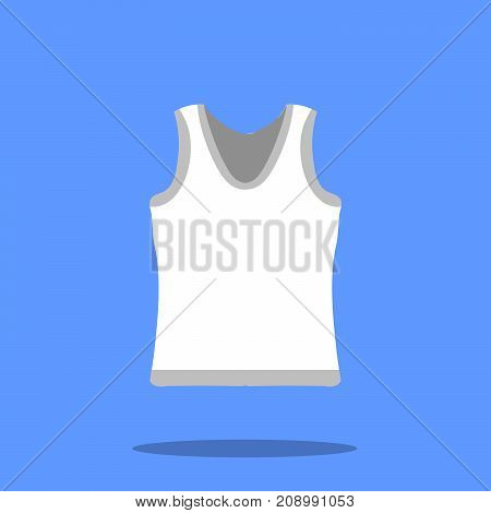 Male singlet vector sketch icon isolated on background. Male singlet icon for infographic, website or app. Flat design Vector Illustration eps10