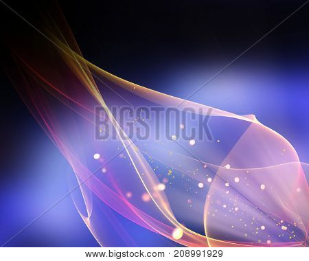 Abstract background of lights and flowing lines