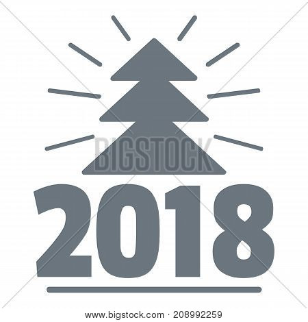 Minimal christmas tree logo. Simple illustration of minimal christmas tree vector logo for web