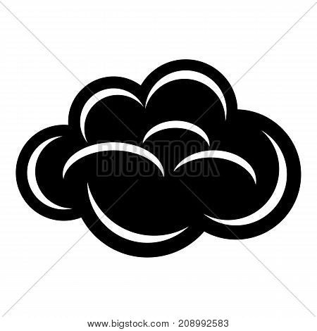 Internet cloud icon. Simple illustration of internet cloud vector icon for web