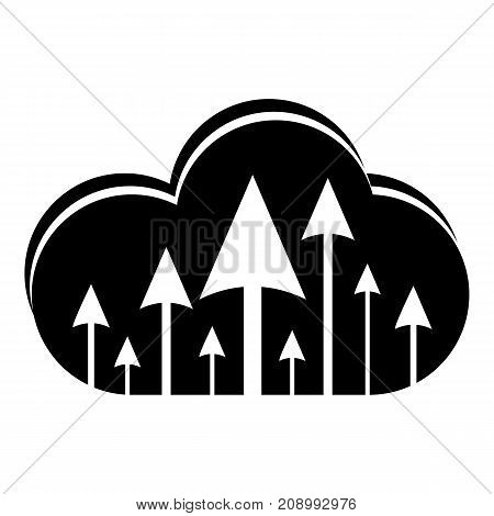 Hosting cloud icon. Simple illustration of hosting cloud vector icon for web