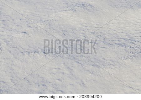 territory covered with snow in the winter season. Photo close-up