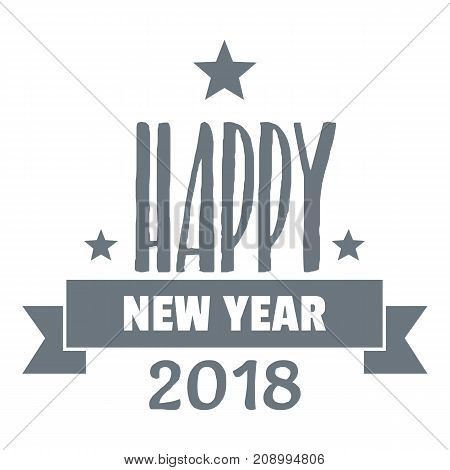 Happy new year lettering logo. Simple illustration of happy new year lettering vector logo for web