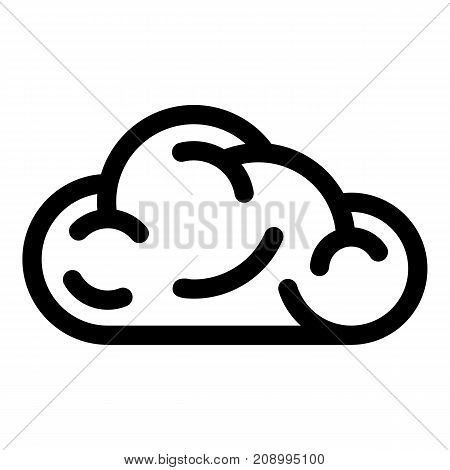 Ui cloud icon. Simple illustration of ui cloud vector icon for web