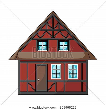 House, single icon in cartoon style.House, vector symbol stock illustration .