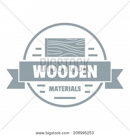 Wooden materials logo. Gray monochrome illustration of wooden materials vector logo for web