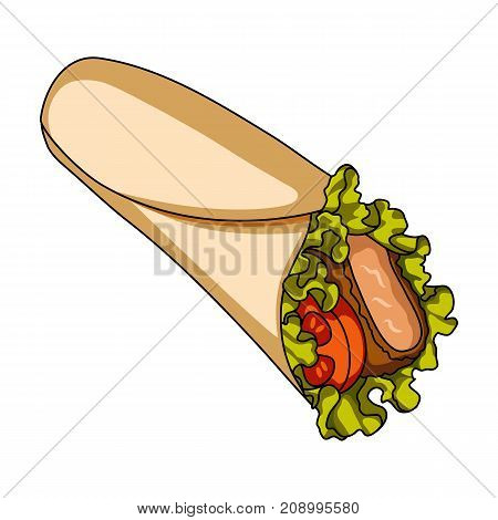 Lavash, single icon in cartoon style.Lavash, vector symbol stock illustration .