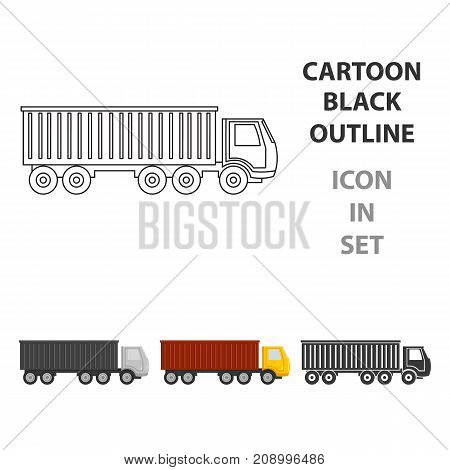 Truck delivery icon of vector illustration for web and mobile design