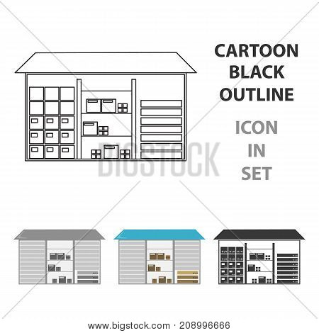 Warehouse icon of vector illustration for web and mobile design