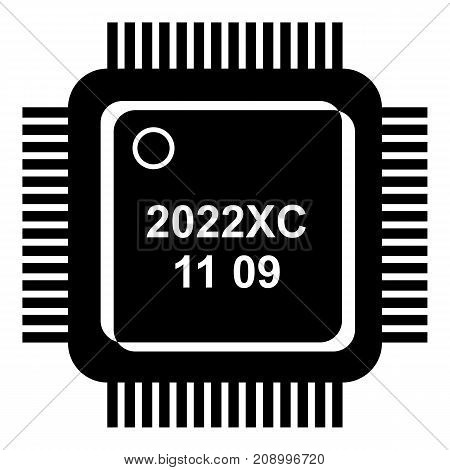 System microchip icon. Simple illustration of system microchip vector icon for web