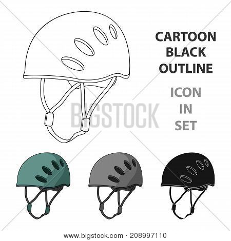 Plastic helmet climber.Mountaineering single icon in cartoon style vector symbol stock illustration .