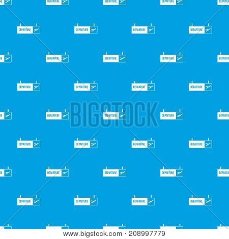 Airport departure sign pattern repeat seamless in blue color for any design. Vector geometric illustration