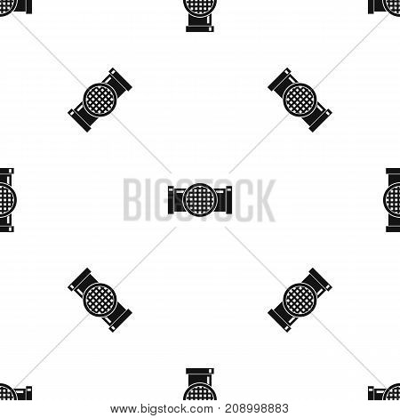 Drain pipe pattern repeat seamless in black color for any design. Vector geometric illustration