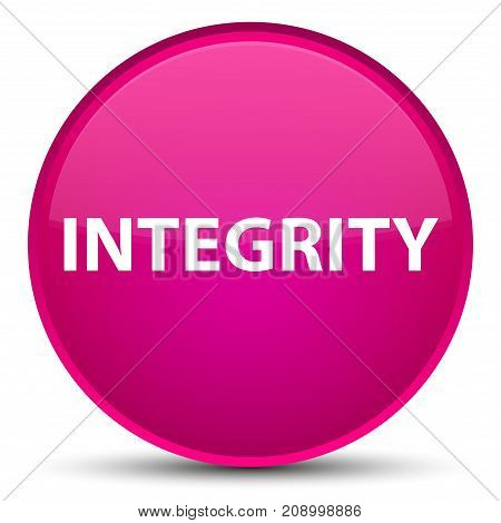 Integrity Special Pink Round Button